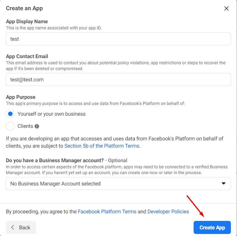 Facebook how to find app id