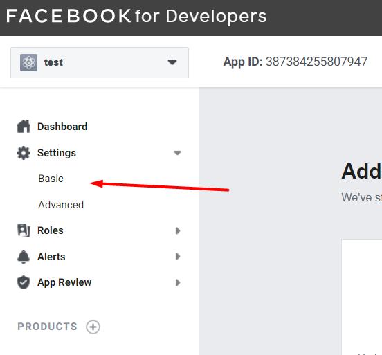 App settings basic